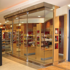 Doorcontrol Sliding Glass Store Front