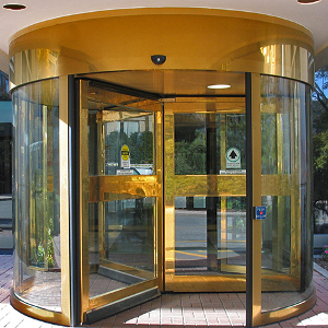 Doorcontrol revolving Entry Door